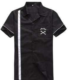 mensbowlingshirt, Shirt, hotrod, Vintage