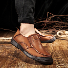 cow, Fashion, comfortablesoftbottomshoe, casual leather shoes