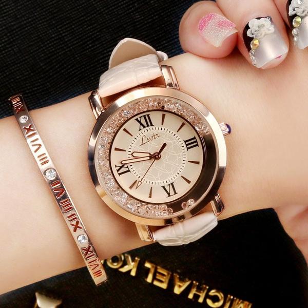 Steel, Fashion, leather, wristwatch