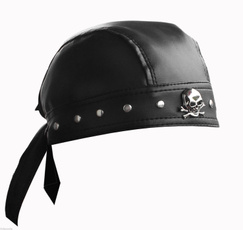 bikercap, skull, punkcap, leather