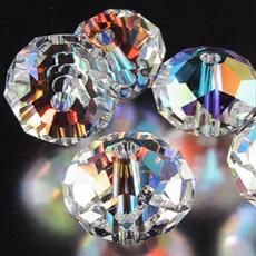 8MM, Bijoux, Cristal, rondelle