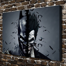 art, Batman, bedroom, impressionistoilpainting