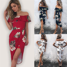 Fashion, wrappedchest, long dress, Dress