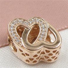 goldplated, europeancharmbracelet, Love, Jewelry