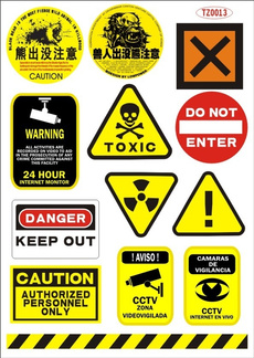 Stickers, Funny, warningsign, Sports & Outdoors