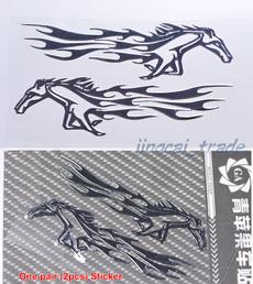 horse, Emblem, chrome, Autos