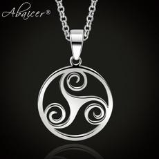 Steel, triskelependant, Jewelry, vikingnecklace