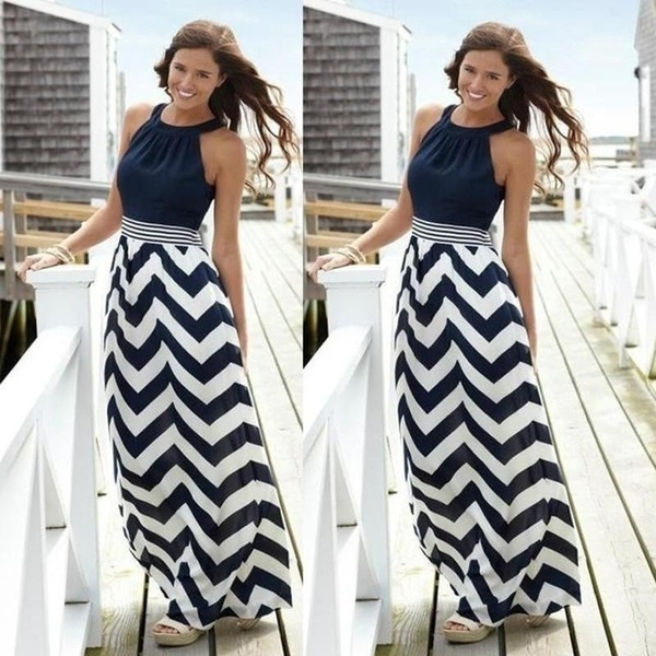 Summer, Fashion, halter dress, chiffon