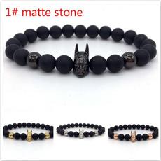 mattebracelet, mensblackbracelet, Bracelet Charm, Batman