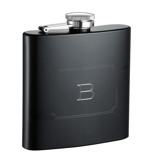 matte, black, glassesbarware, Flasks