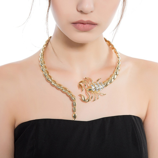 Goth, Adjustable, Jewelry, goldplatednecklet