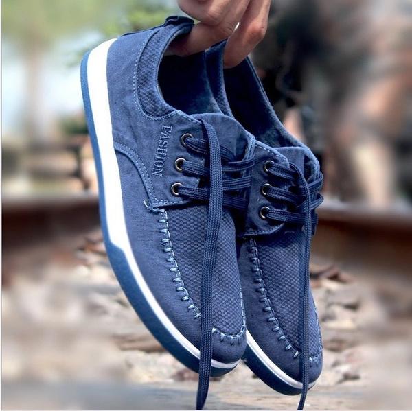 Men's Casual Jeans Canvas Shoes Fashion