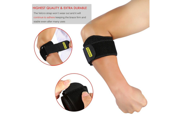 HEALLILY Adjustable Elbow Brace Wrap Arm Support Band Sports Protector for Sports Injury Recovery Pain Prevent