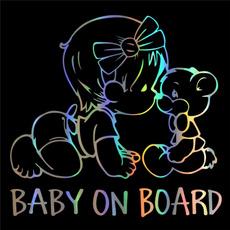 Baby, Car Sticker, safetywarningsticker, cartoondecal