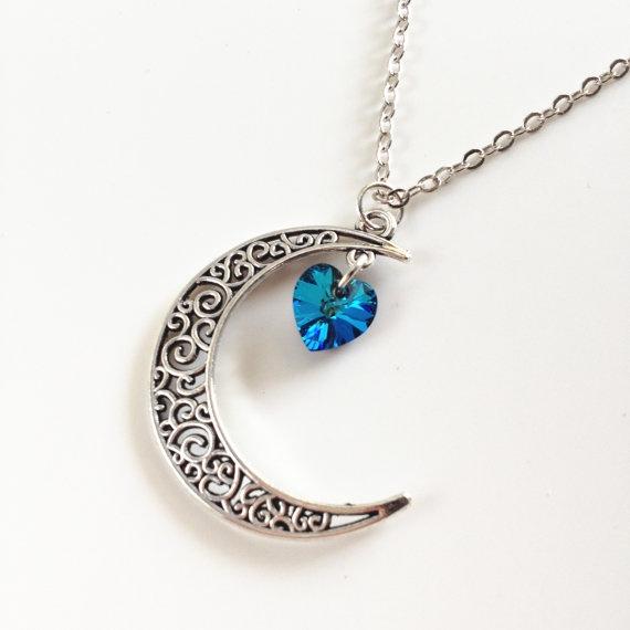 Blues, Heart, Personalized necklace, Boyfriend Girlfriend Jewelry