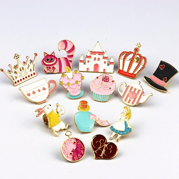 cute, aliceinwonderland, brooches, Gifts