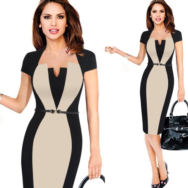 Women, slim, office dress, Office