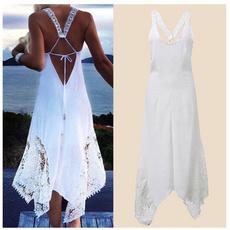cottonsungown, Cotton, Flowers, halter dress