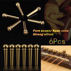 Brass, brassbridgepin, Musical Instruments, guitarstring