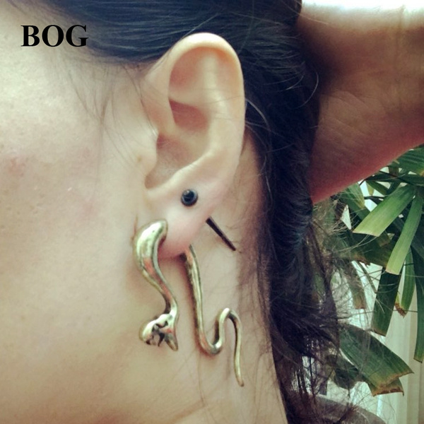Ear Weights 8mm 0g Stretched Lobes Snake Ear Hangers Tapers Sold as Pair