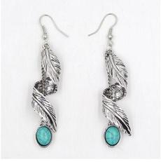 piercedearring, Turquoise, Dangle Earring, Jewelry