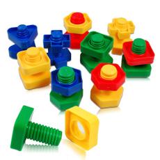 Children, Toy, 5pcsscrewbuildingblock, plasticinsertblock
