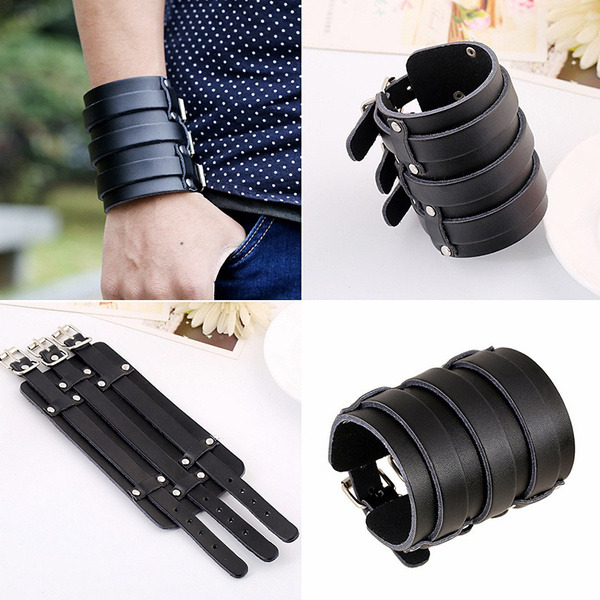 Wristbands, leather, Bangle, Buckles