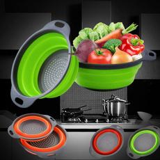 siliconestrainer, siliconecolander, fruitvegetablestrainer, kitchenampdining