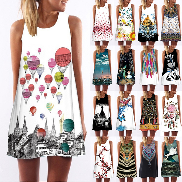 cartoon print dress
