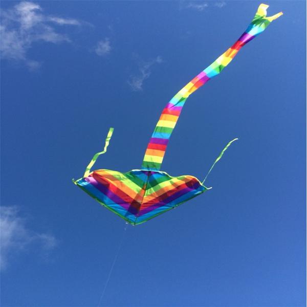 fly, rainbow, Toy, Triangles
