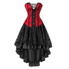 Vintage, Goth, corsetpartydresse, longcorsetdresse