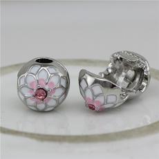 Charm Bracelet, Copper, diybracelet, peach