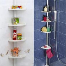 Bathroom, Adjustable, telescopic, showercornercaddy