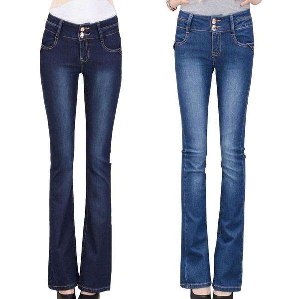 womens jeans, denimlongpant, Waist, high waist jeans