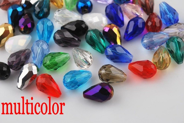 Jewelry, facetedglassbead, waterdropbead, Glass
