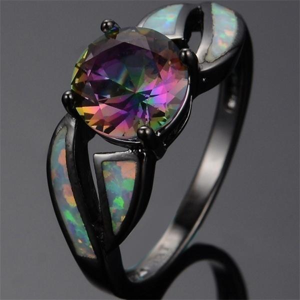 blackgoldring, rainbow, Fashion, wedding ring