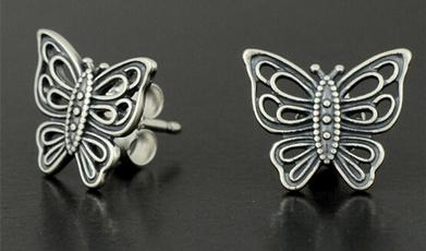 Sterling, Love, Jewelry, Stud Earring