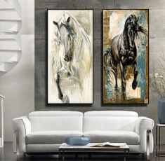 decoration, painting, abstracthorse, horseoilpainting