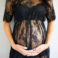 Clothing & Accessories, pregnancyphotographydres, Lace, lacematernitydres