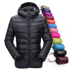 Down Jacket, hooded, Invierno, Manga
