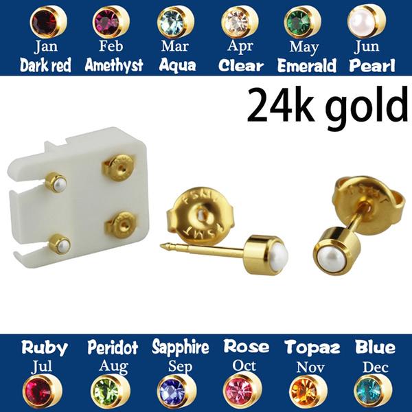 24kgold, Steel, Jewelry, gold