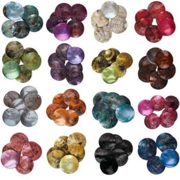 shellnatural, flatroundbead, diybeadsaccessorie, Jewelry
