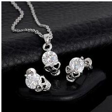 ghost, Cubic Zirconia, Head, Jewelry