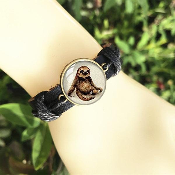 sloth, Fashion, Jewelry, leather