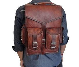 Laptop Backpack, brown, Vintage, rucksack