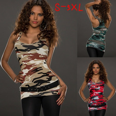 Vest, Fashion, camouflage tank tops, topsamptshirt