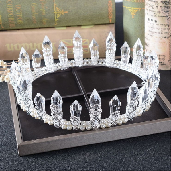 pageant, Crystal, crown, pearls