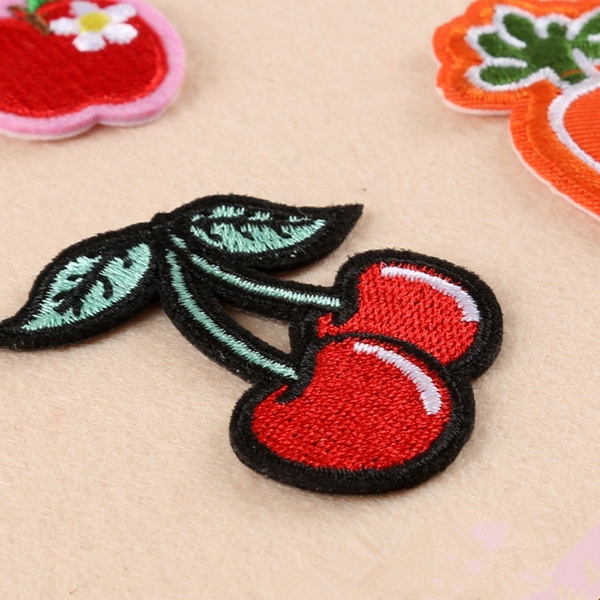 cherrypatch, clothesdecoration, Cherry, embroiderypatch