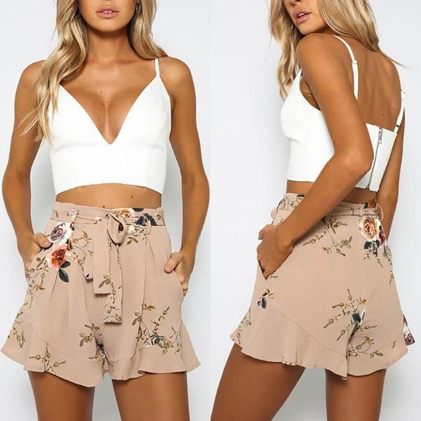 boho, womensummershort, Shorts, Waist