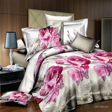 Clothes, queensizebeddingset, Polyester, Flowers